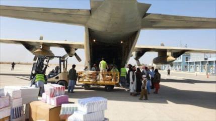2.º lote de ayuda humanitaria de Irán llega a Kunduz, Afganistán