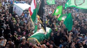 Funeral de las vítimas mortales de los trioteos en El Líbano