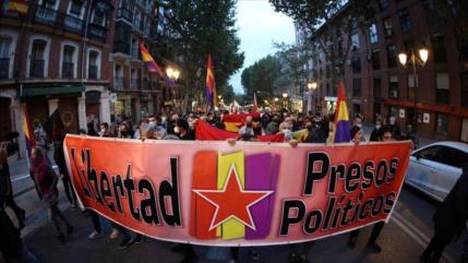 Madrileños protestan contra leyes represivas del Gobierno español