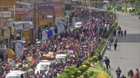 Los bolivianos marcharon en La Paz por masacre de 2019