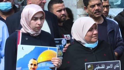 Solidaridad con presos palestinos en Ramalá; exigen su liberación