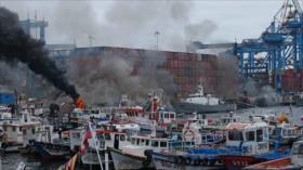 Armada de Chile reprime a pescadores artesanales en Valparaíso