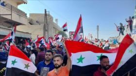 Vídeo: Sirios salen a las calles en Alepo contra la ocupación turca