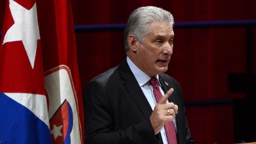 Díaz-Canel: EEUU financia y organiza el esquema desestabilizador en Cuba