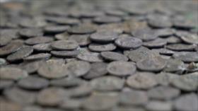 Descubren tesoro romano de 5500 monedas de plata en Alemania