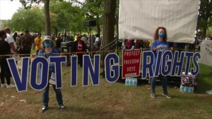 Marchan en EEUU por reforma electoral, bloqueada por republicanos