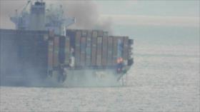 """""""Zim Kingston, buqueincendiado en aguas canadienses es israelí"""""""