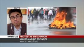 Andino: Ecuatorianos salen a las calles porque Lasso les engañó