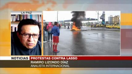 Lizondo: Pueblo ecuatoriano, en contra de agenda neoliberal de Lasso