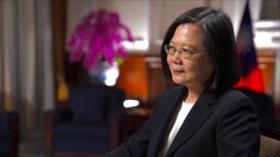 Por vez 1.ª líder de Taiwán admite militarismo de EEUU en la isla