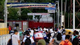 Venezuela abre paso peatonal en la frontera con Colombia
